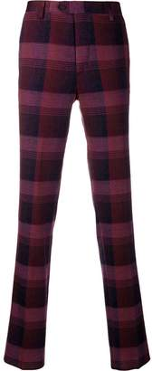 Missoni checked slim-fit trousers