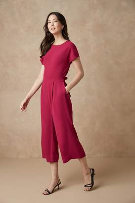 Next Womens Berry Belted Jumpsuit - Pink