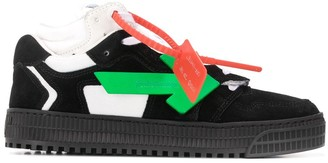 Off-White Arrows logo mid-top sneakers