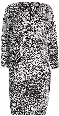 Escada Dixani Abstract Leopard-Print Shift Dress
