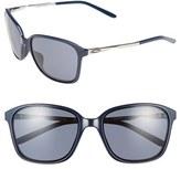 Oakley Women's 'Game Changer' 57Mm Sunglasses - Navy/ Chrome/ Grey