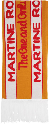 Martine Rose SSENSE Exclusive Orange and Green Football Scarf