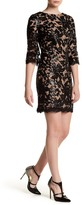 Dress the Population Floral Lace Melody Shift Dress
