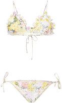 Zimmermann floral bikini set - women - Polyamide/Spandex/Elastane - 2
