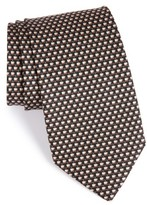 Salvatore Ferragamo Men's Coffee Cup Print Silk Tie