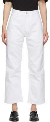 Studio Nicholson White Denim Ruthe Selvedge Jeans