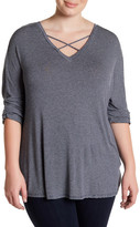 Gibson Crisscross Long Sleeve Shirt (Plus Size)