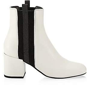 Brunello Cucinelli Women's Colorblock Pull-On Leather Booties