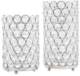 Bed Bath & Beyond Deco Crystal Hurricane Lamps (Set of 2)