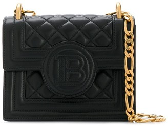 Balmain Quilted Chain Strap Shoulder Bag