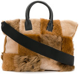 Marni patchwork tote - women - Leather/Sheep Skin/Shearling - One Size