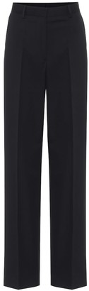 Dries Van Noten High-rise cotton and wool pants