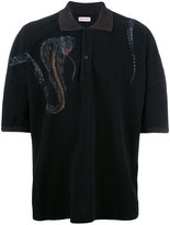 Palm Angels snake print polo shirt