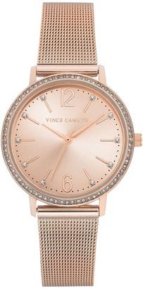 Vince Camuto Women's Rosetone Mesh Bracelet Watch