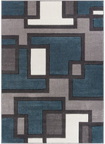 """Blue Area Well Woven Ruby Rug, 6'7""""x9'3"""""""