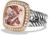 David Yurman Albion Ring with Morganite, Diamonds, and Rose Gold