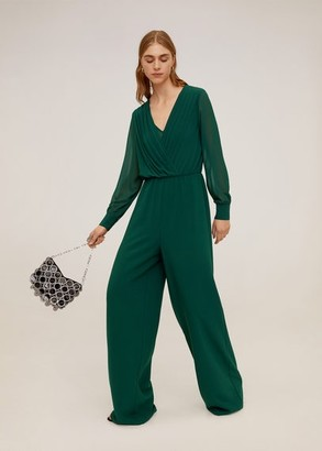 MANGO Draped detail jumpsuit