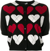 Love Moschino short-sleeve heart cardigan