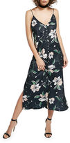 Bardot Floral-Print V-Neck Slip Dress