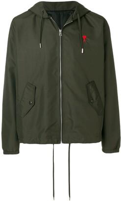 Ami Paris Hooded Zipped Jacket