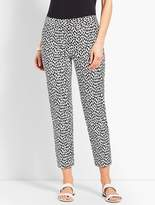 Talbots Slim Crop Pant - Cheetah Spot