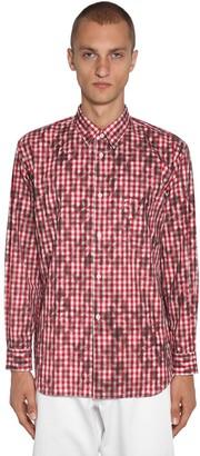 Comme des Garcons Squared Print Cotton Poplin Shirt