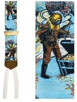 Trafalgar Men's 'Under The Sea' Silk Suspenders