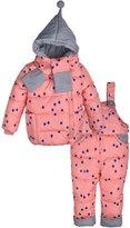 ZOEREA 3pcs Kids Snow Jacket Overall Pants Scarf Hooded Ski Snowsuit Coat