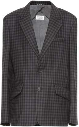 Maison Margiela Checked wool-blend blazer