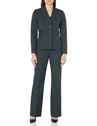 Le Suit Women's 2 Button Peak Lapel Pant Suit