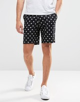 Asos Skinny Tailored Shorts In Polka Dot