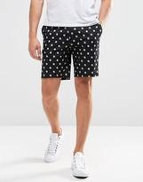 Asos Skinny Tailored Shorts In Spot Print