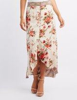 Charlotte Russe Floral Button-Up Maxi Skirt
