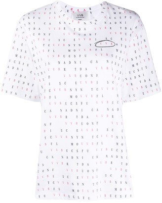 Victoria Victoria Beckham letters print T-shirt
