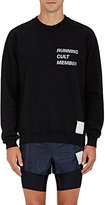 "Satisfy Men's ""Running Cult Member"" Cotton Sweatshirt-BLACK"