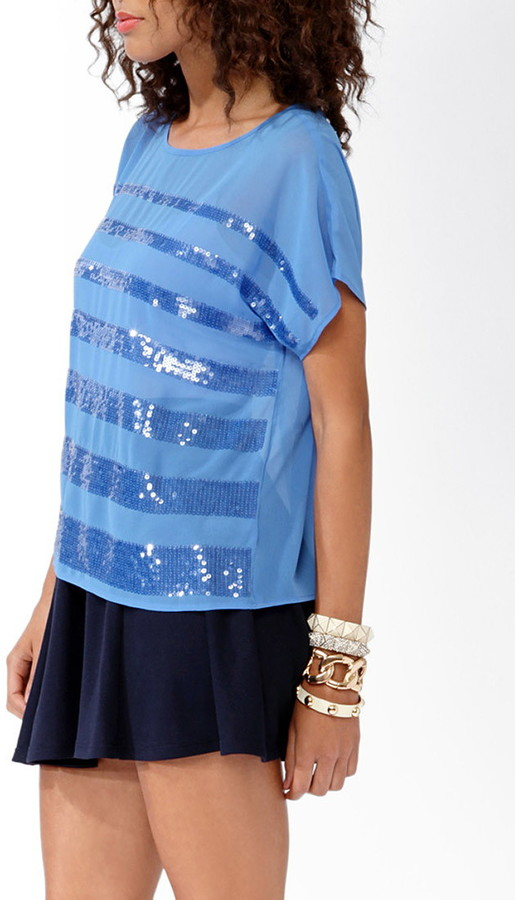 Forever 21 Graduated Sequins Top