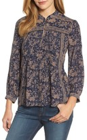 Lucky Brand Women's Michelle Collared Peasant Top