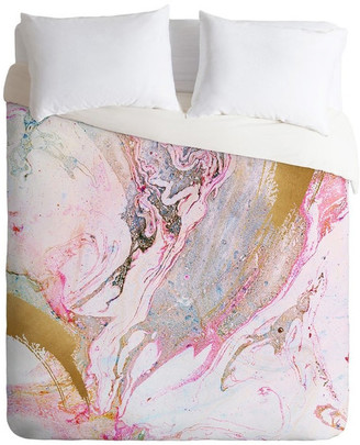 Deny Designs Iveta Abolina Winter Marble Duvet Cover, Queen
