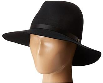 Rag & Bone Floppy Brim Fedora (Black) Fedora Hats