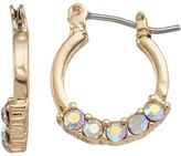 Lauren Conrad Faceted Stone Nickel Free Hoop Earrings