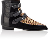 Isabel Marant Women's Rowi Suede & Leather Ankle Boots-BROWN, BLACK