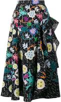 Peter Pilotto printed flared skirt