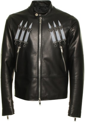 Valentino Loveblade Biker Leather Jacket