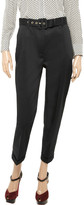 Moschino Cheap & Chic Moschino Cheap and Chic Belted cotton-blend skinny pants