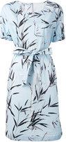 Blumarine printed belted dress