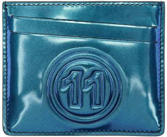 Maison Margiela Blue Metallic Card Holder