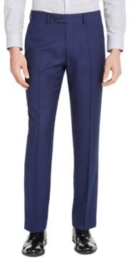 Perry Ellis Men's Portfolio Slim-Fit Stretch Blue Pindot Suit Pants