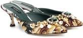 Dolce & Gabbana Embellished jacquard mules