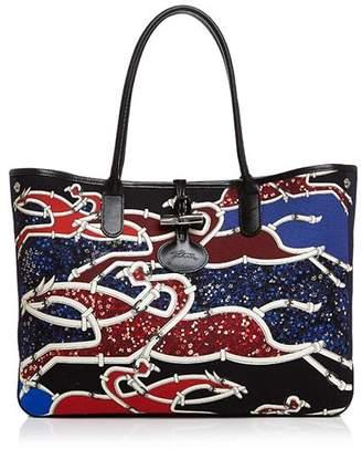 Longchamp Gallop Embellished Shoulder Tote