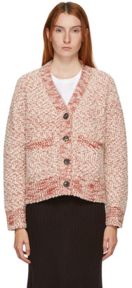 Kenzo Red and White Wool Cardigan